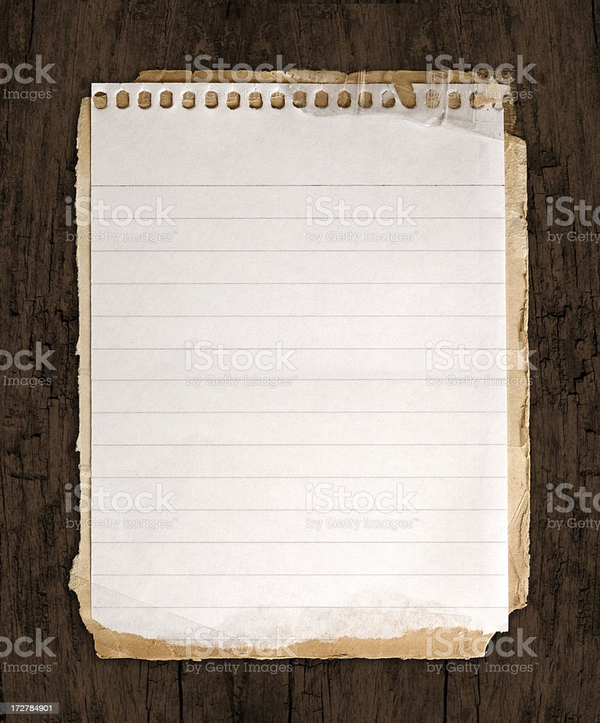 Note  w/Clipping Path royalty-free stock photo
