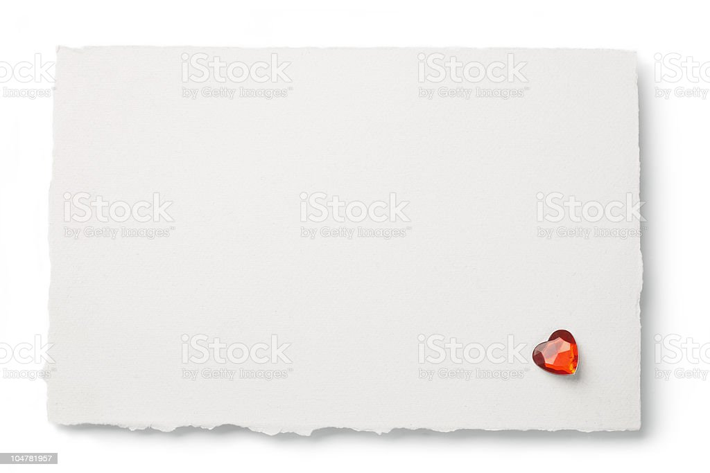 Note With Heart. royalty-free stock photo