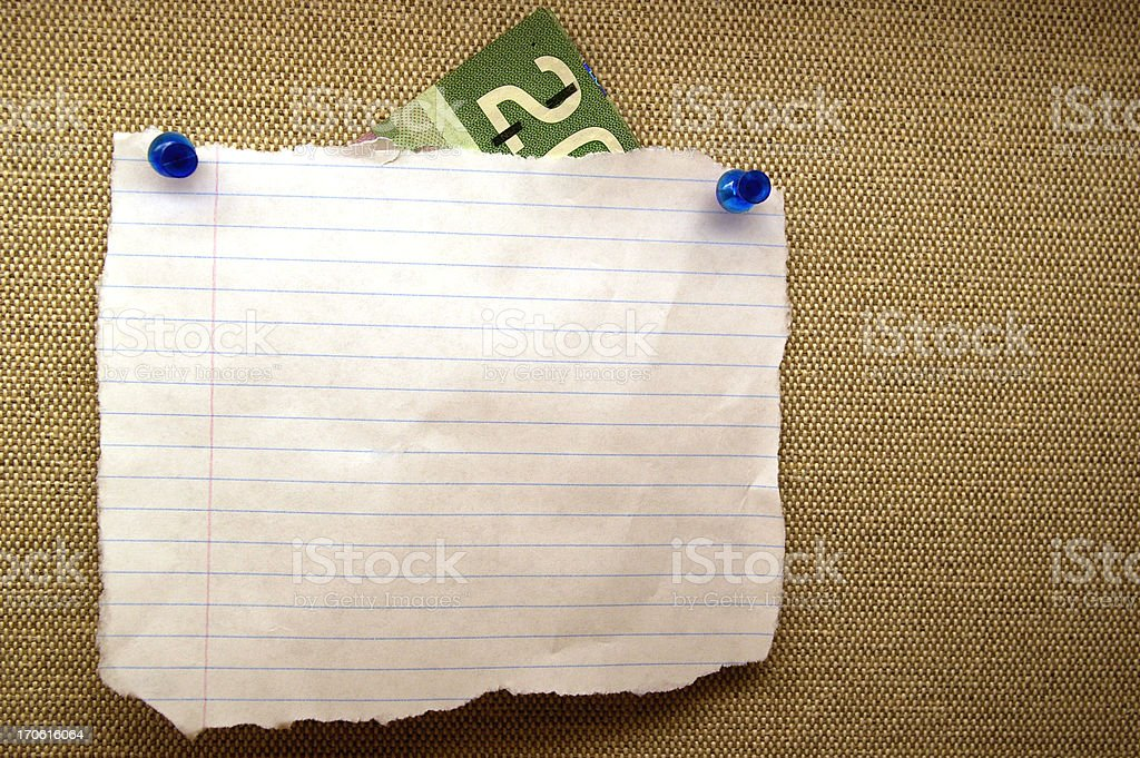 Note with Money royalty-free stock photo