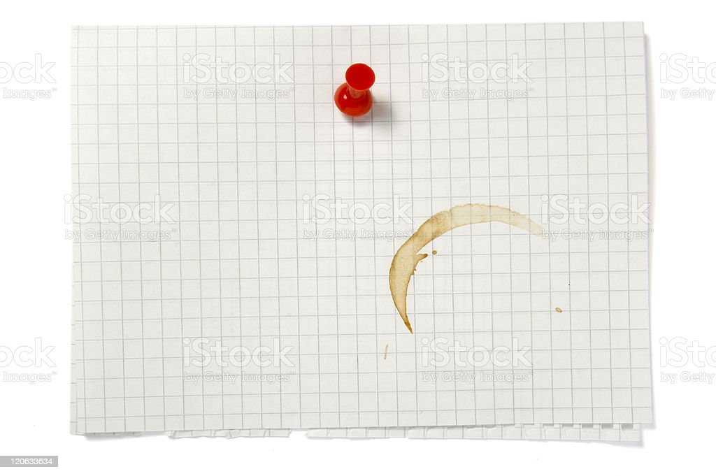 note with stain royalty-free stock photo