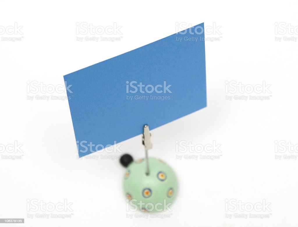 Note with the stand royalty-free stock photo
