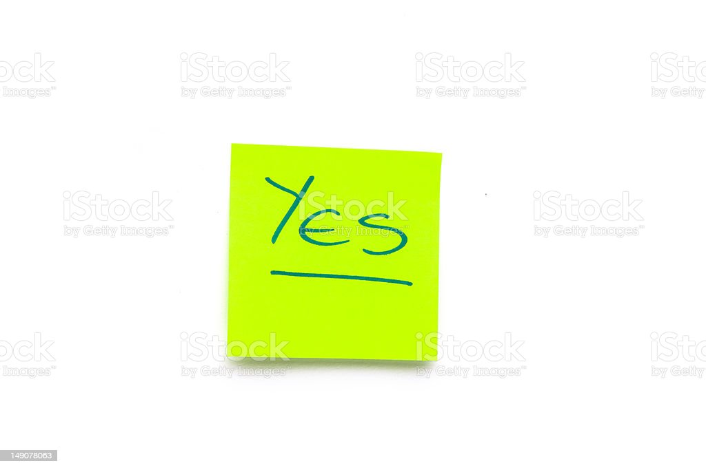 Note 'Yes' royalty-free stock photo