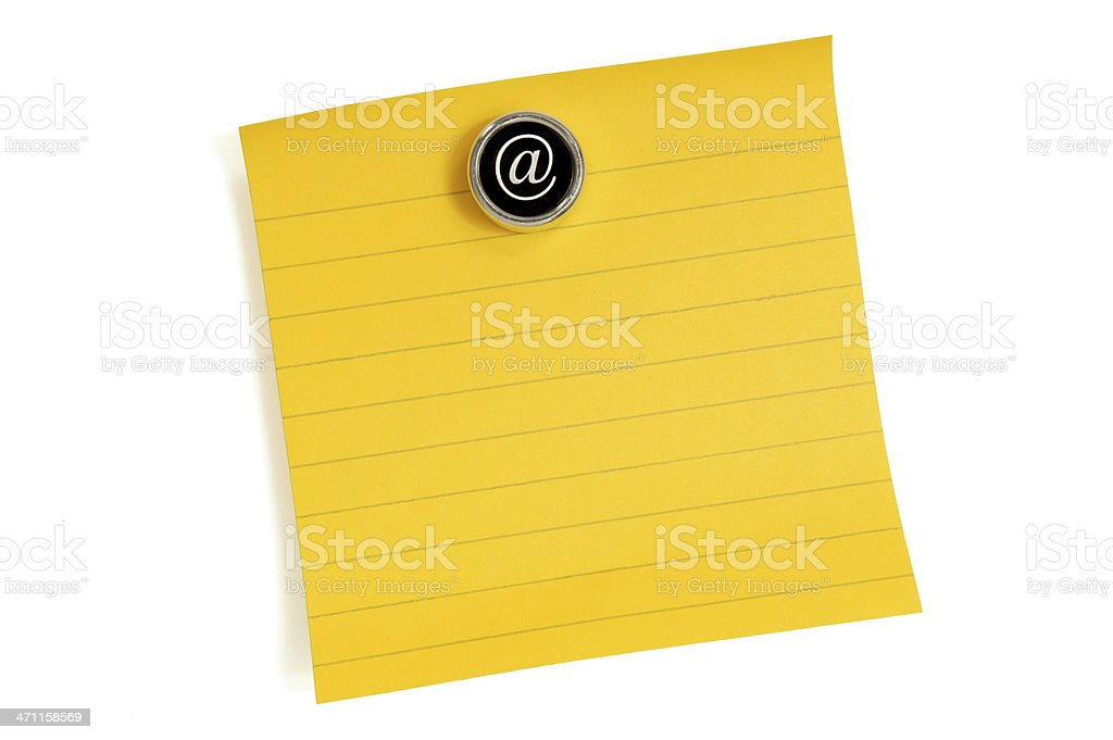 note your e-mail here royalty-free stock photo