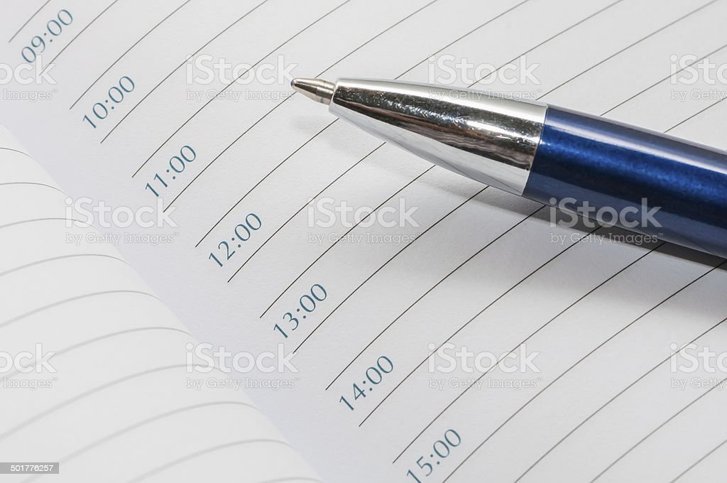 notebook - a daily routine stock photo