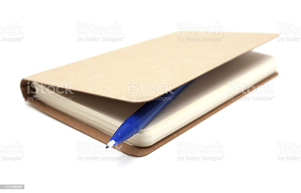 Notebook and a felt-tip pen royalty-free stock photo