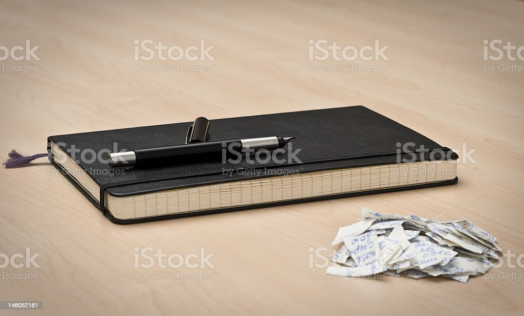 Notebook and a pen royalty-free stock photo