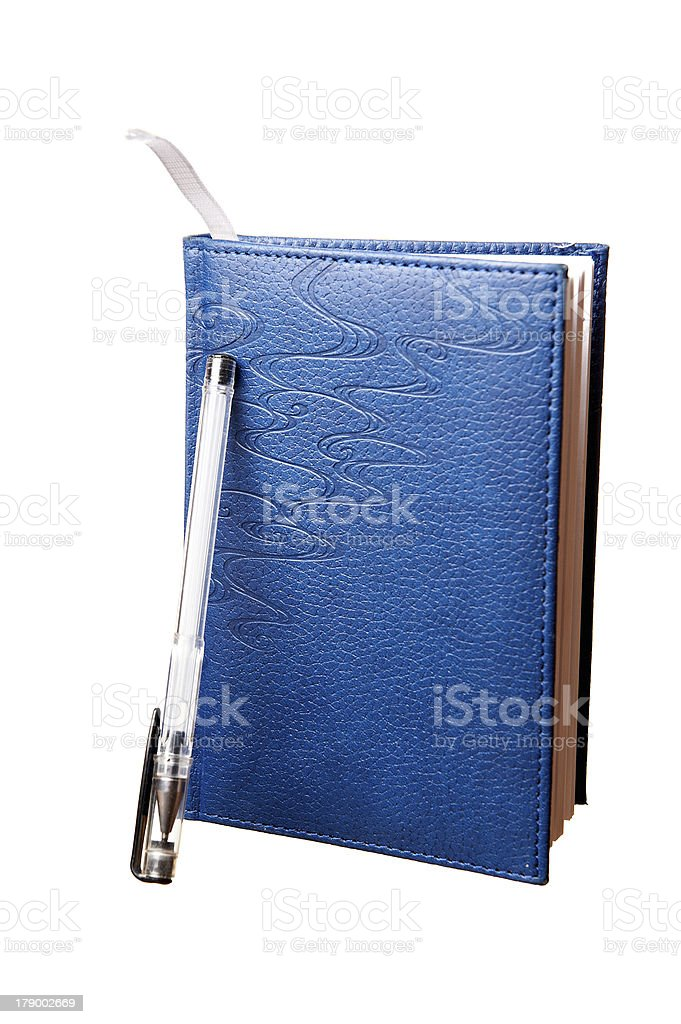 Notebook and black pen royalty-free stock photo