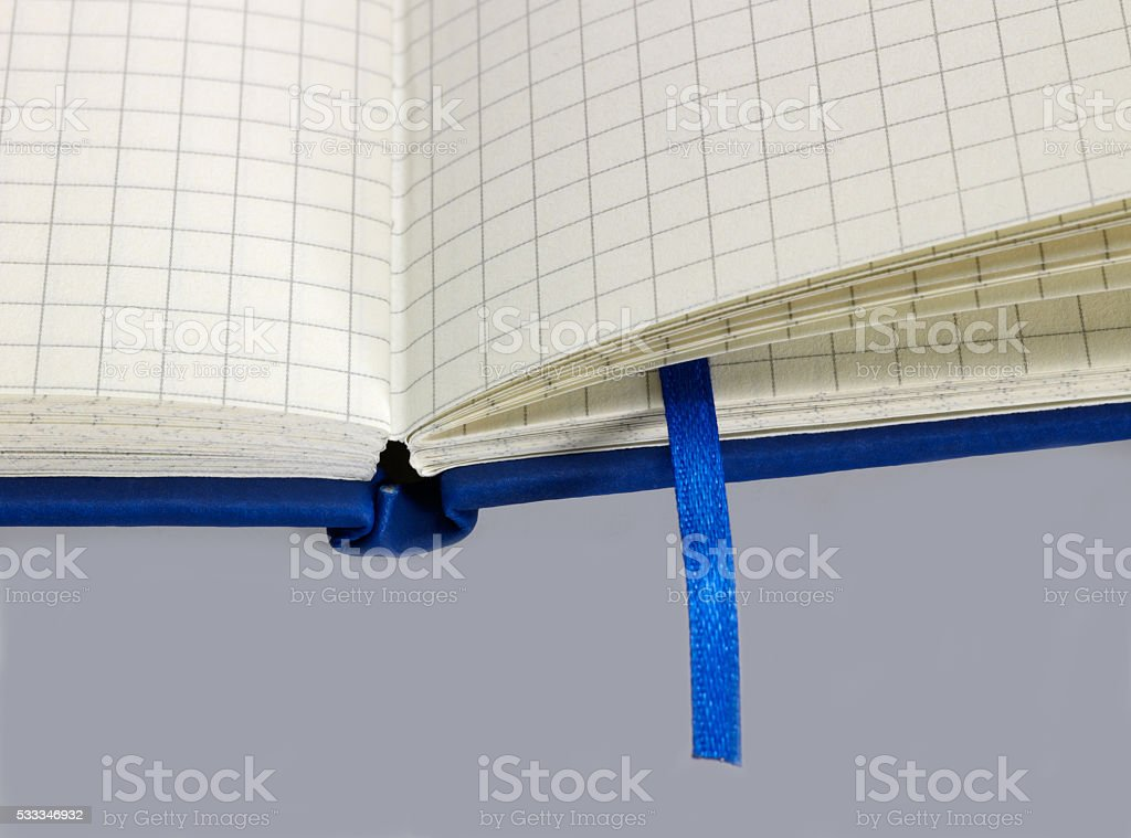 notebook and bookmark stock photo
