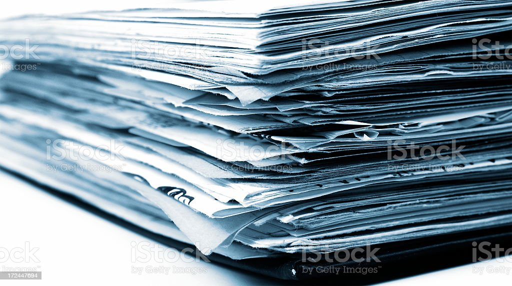 Notebook and papers royalty-free stock photo
