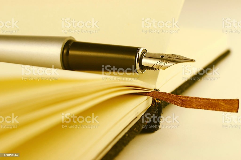 Notebook and pen royalty-free stock photo