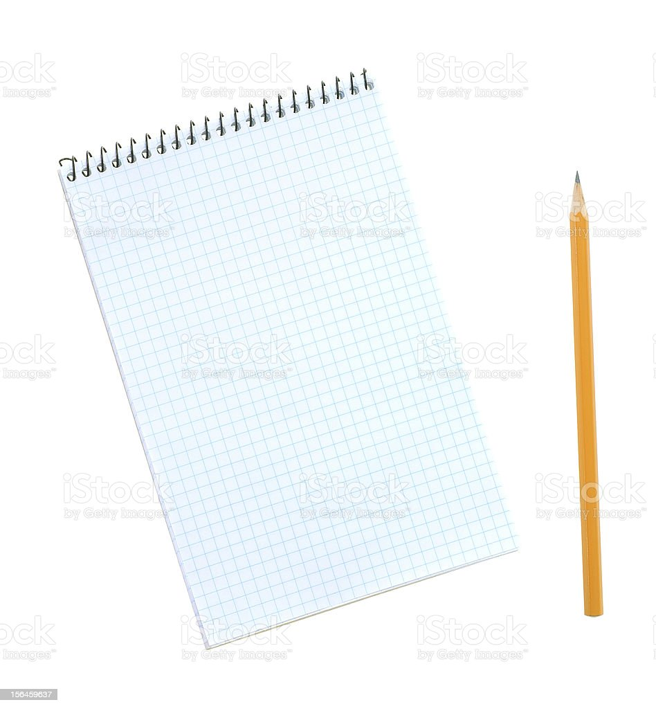 Notebook and pencil. royalty-free stock photo