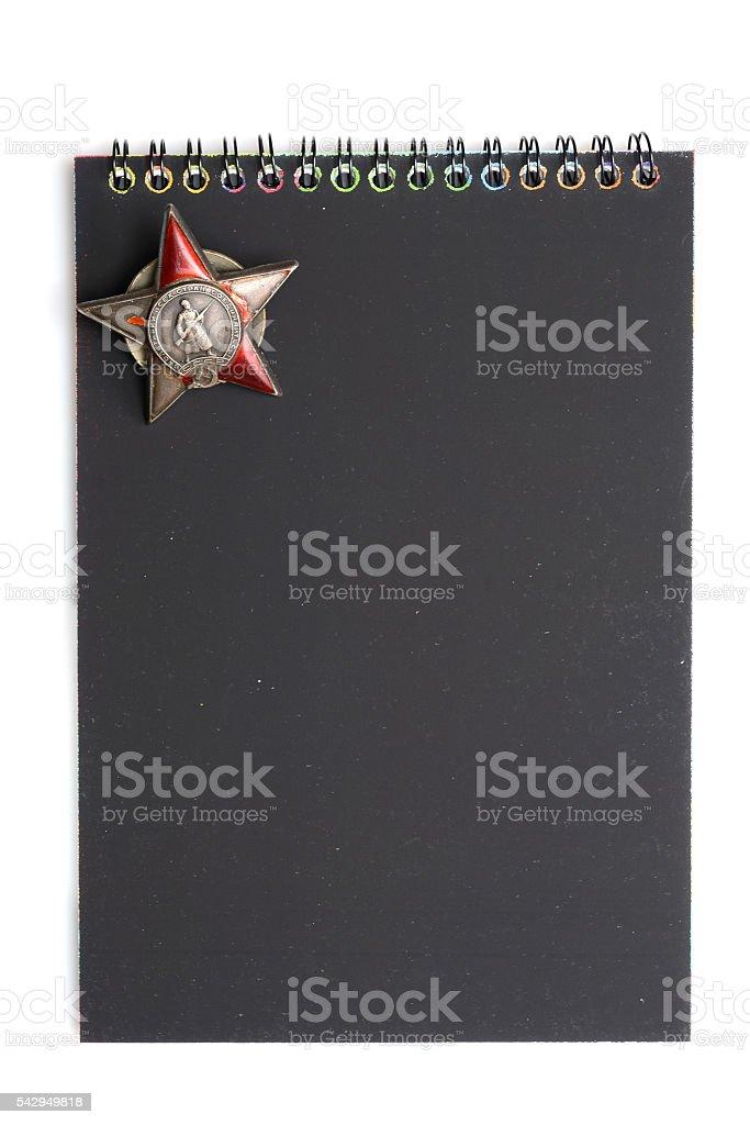 notebook award stock photo