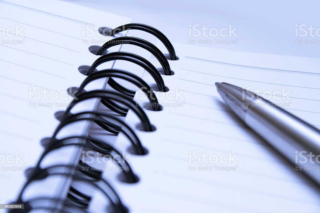 Notebook Close-Up royalty-free stock photo