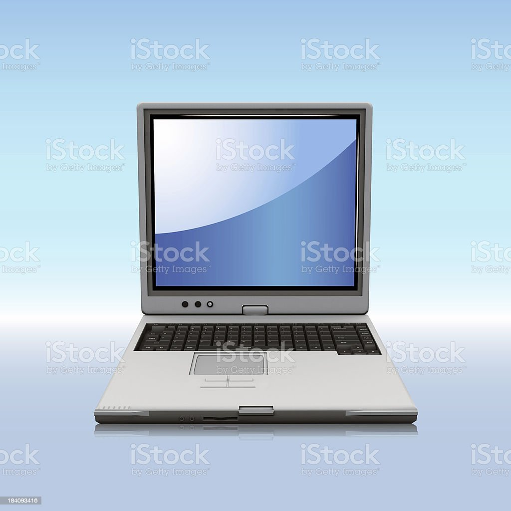 Notebook computer royalty-free stock photo
