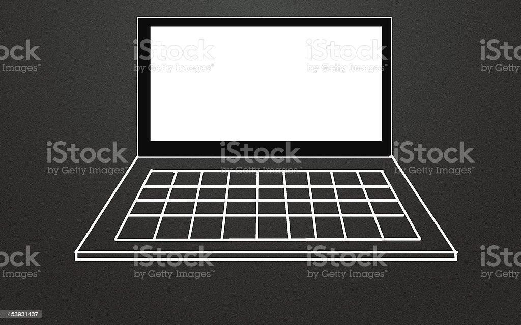 notebook computer symbol stock photo
