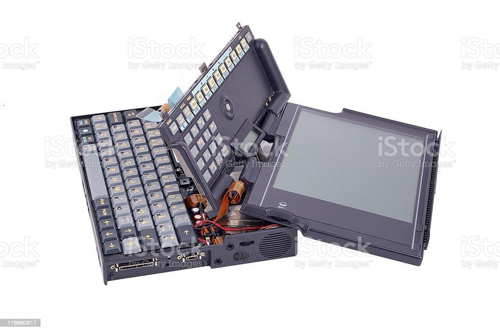 Notebook crash royalty-free stock photo