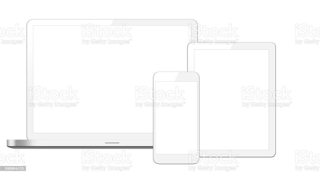 Notebook, Digital Tablet & Smart phone stock photo