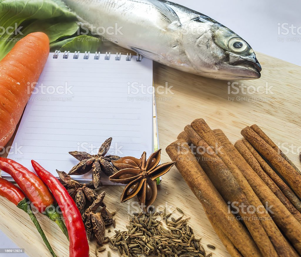 notebook for recipes royalty-free stock photo