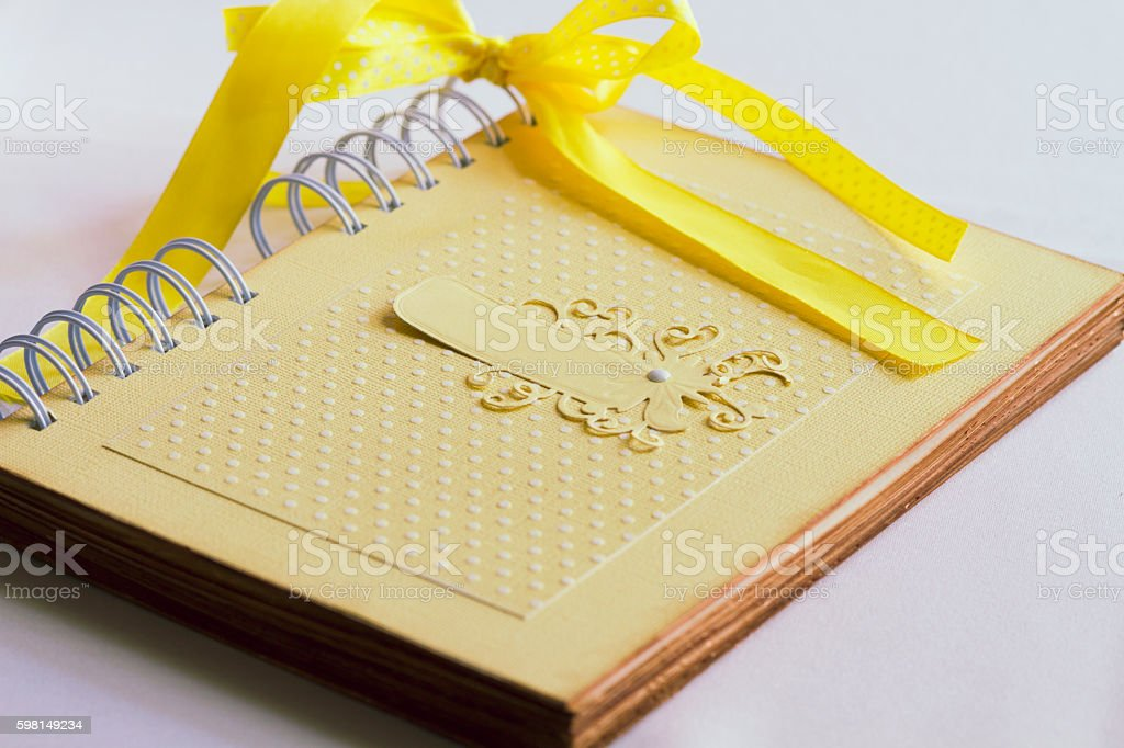 notebook for wedding stock photo