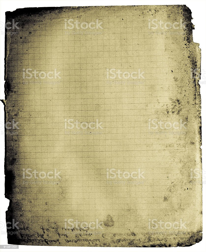 Notebook grunge page royalty-free stock photo