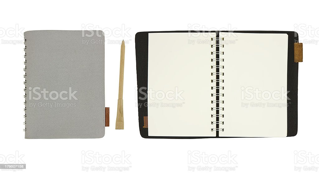 notebook isolated on white royalty-free stock photo