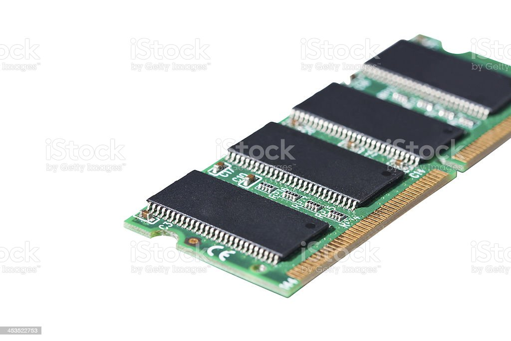 Notebook memory card royalty-free stock photo