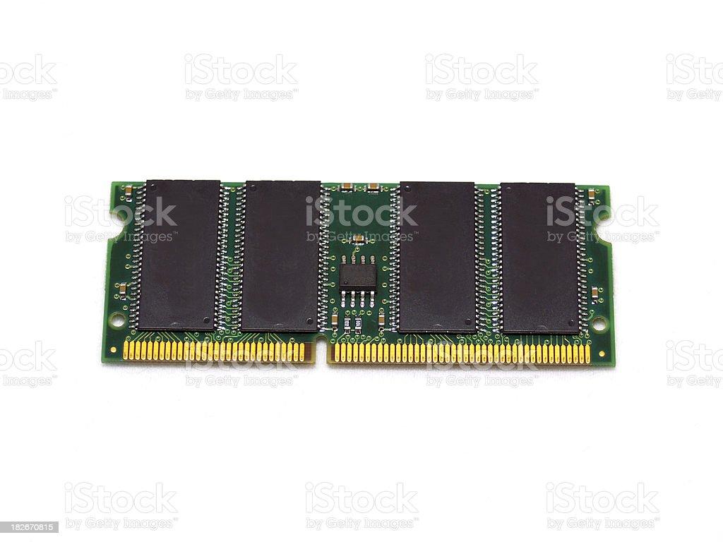 Notebook memory module royalty-free stock photo