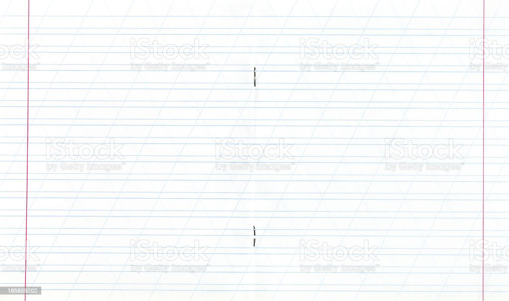 notebook narrow lined double-page spread royalty-free stock photo