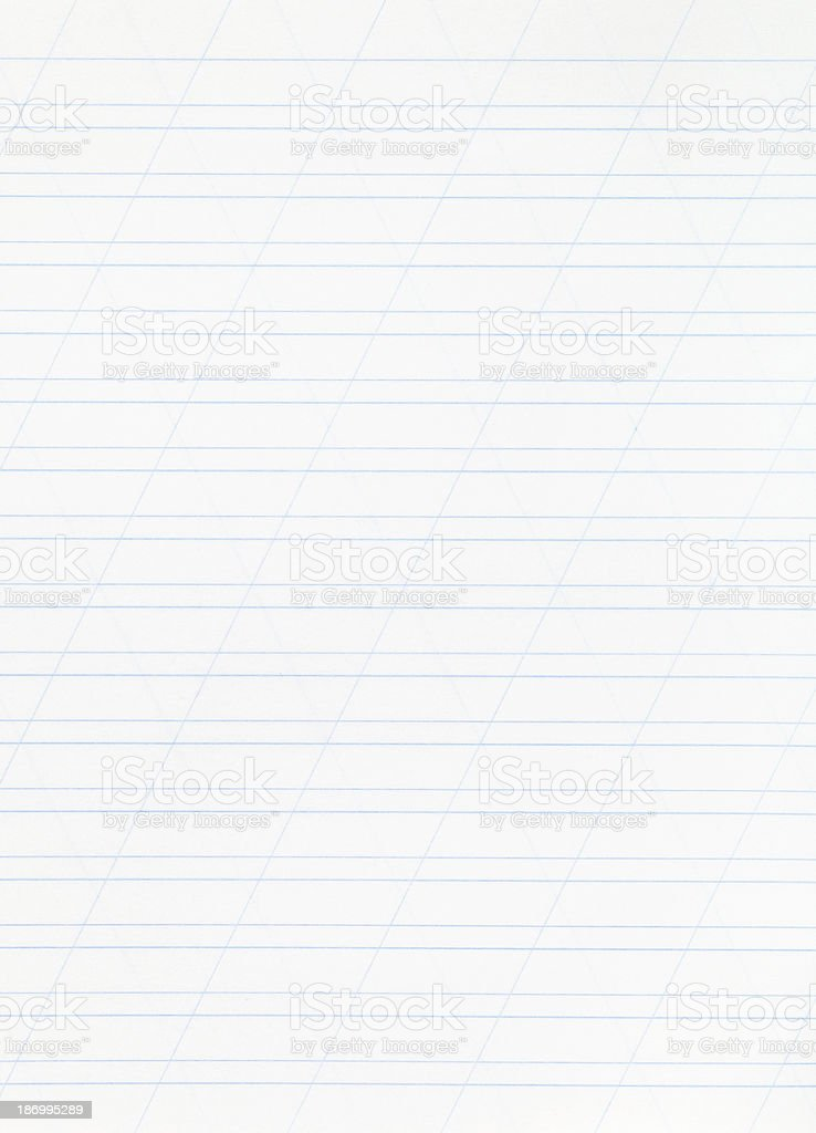 notebook narrow lined paper page stock photo
