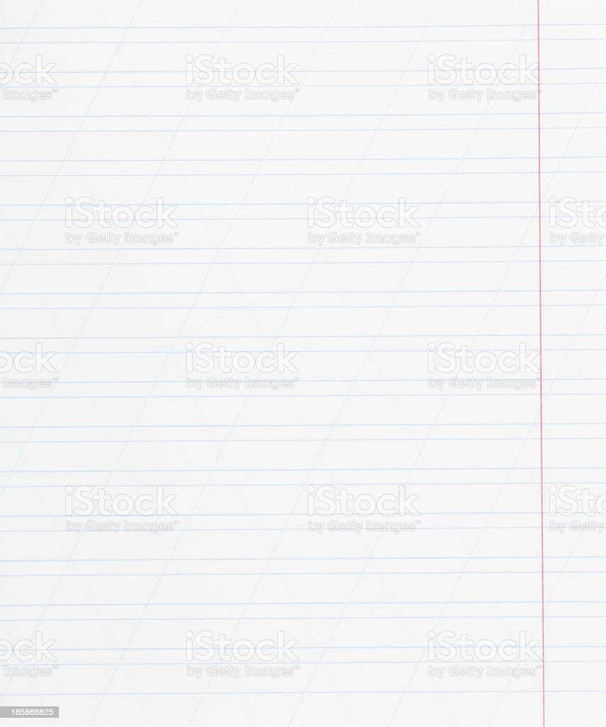 notebook narrow lined sheet of paper royalty-free stock photo