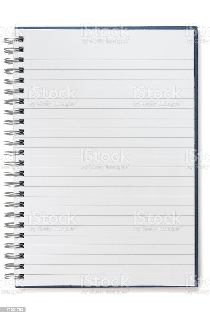 Notebook, note pad, lined stock photo
