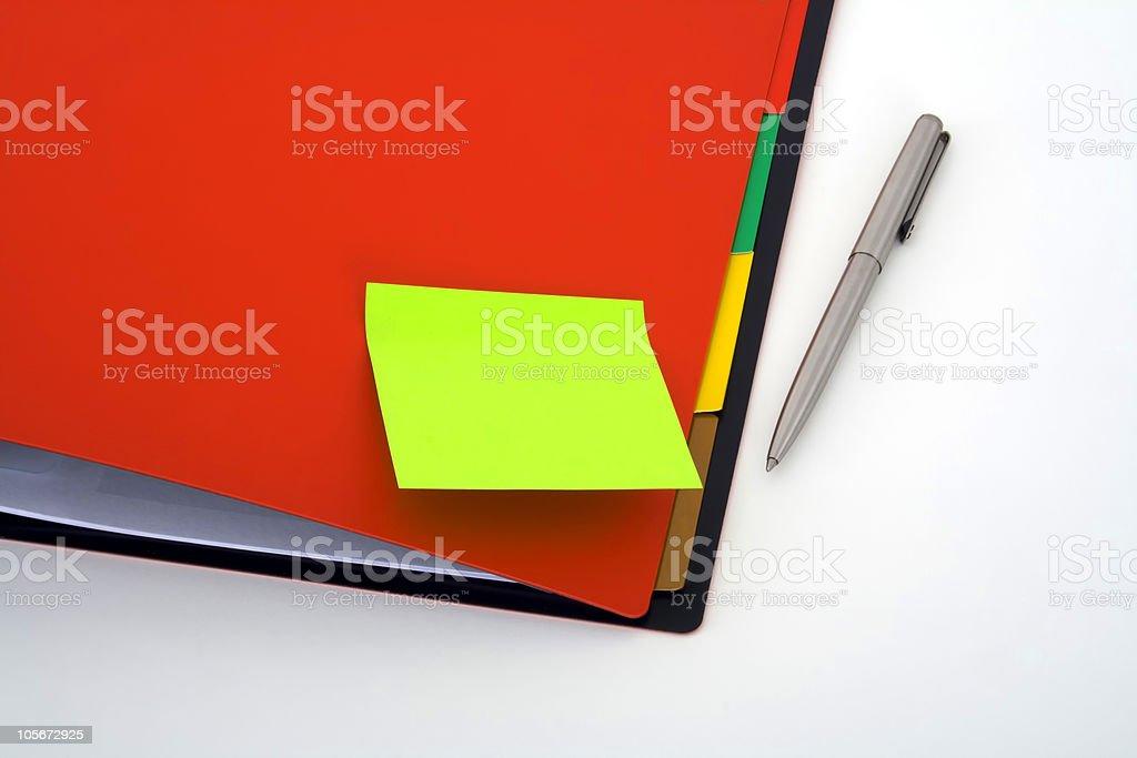 Notebook on postit royalty-free stock photo