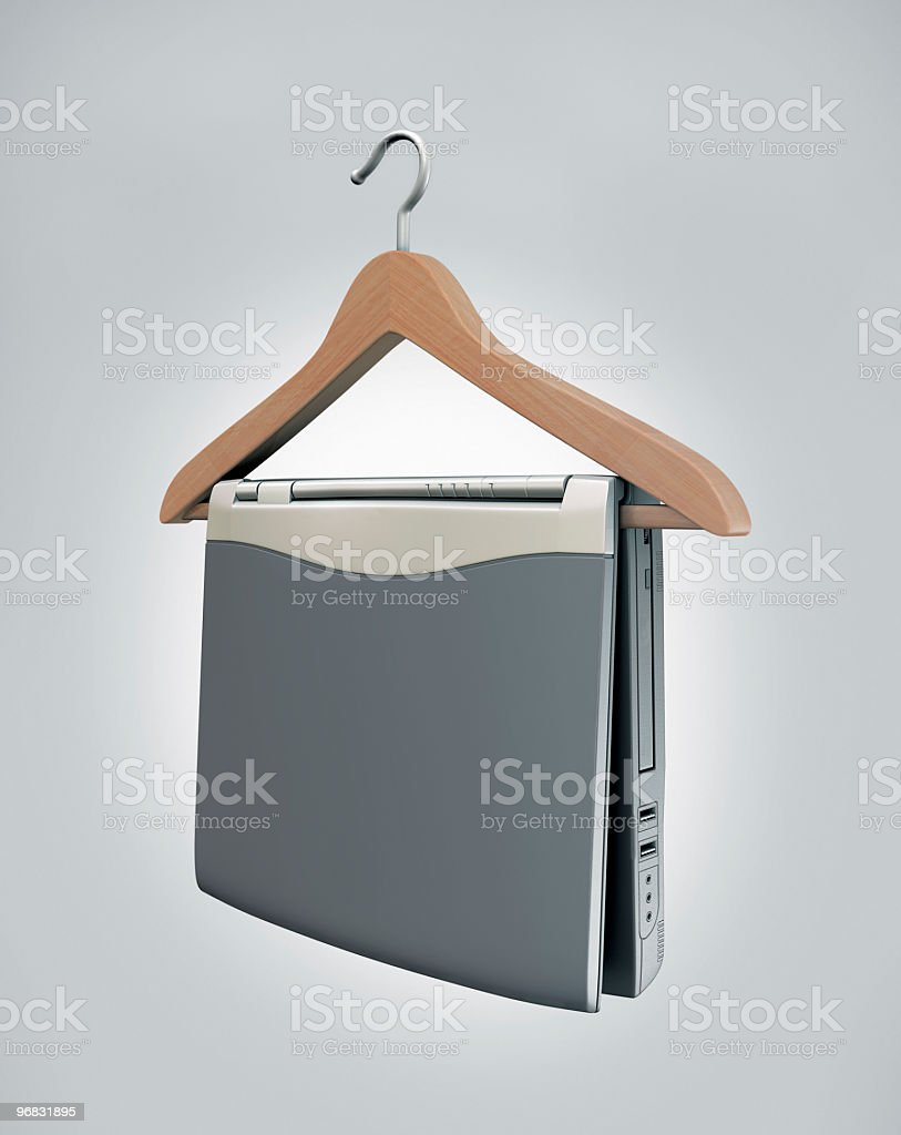 Notebook on the rack stock photo