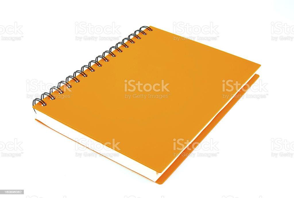 notebook on white background stock photo