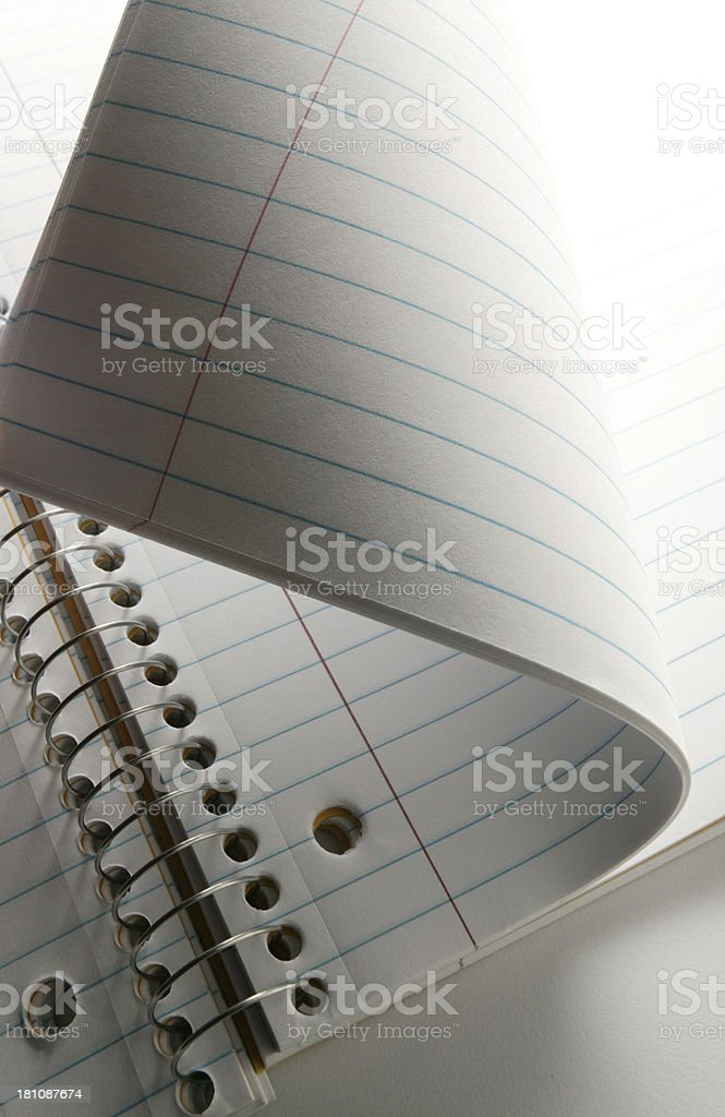 Notebook Paper 3 royalty-free stock photo