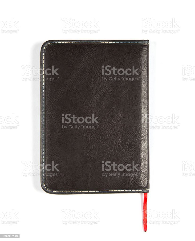 notebook paper isolated white background stock photo