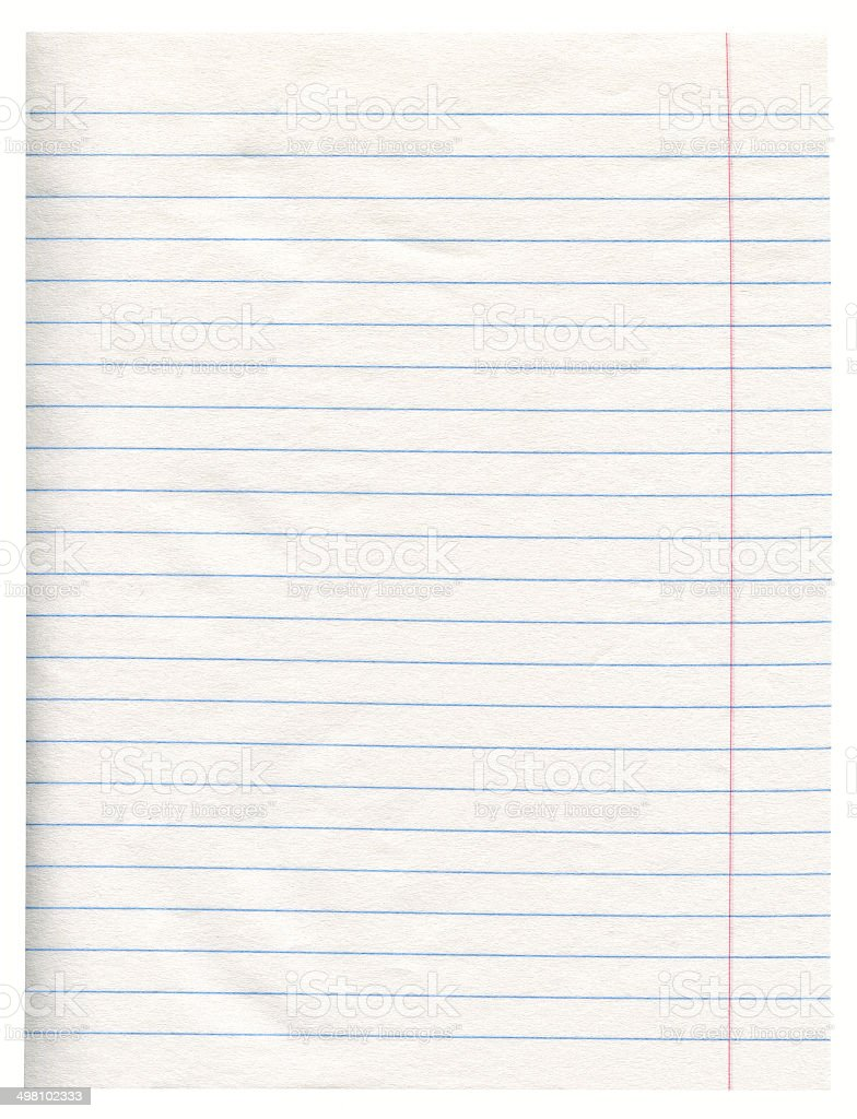 Notebook paper royalty-free stock photo