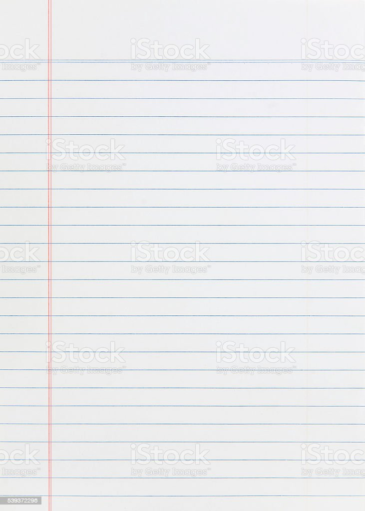 Notebook Paper stock photo