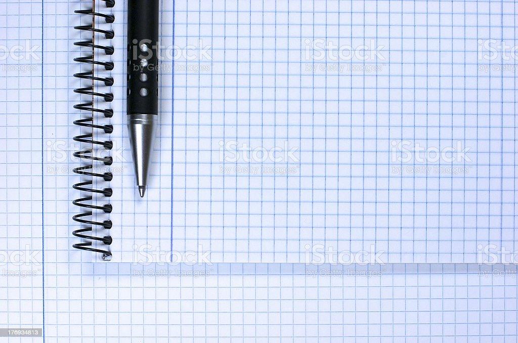 Notebook. Pen royalty-free stock photo
