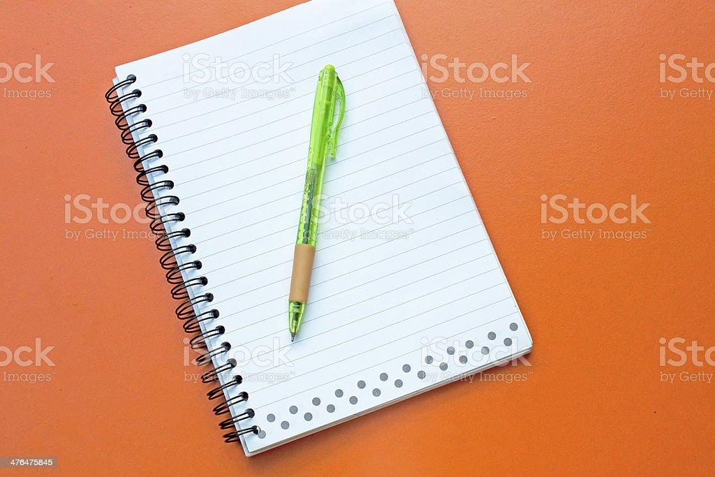 Notebook, pen royalty-free stock photo