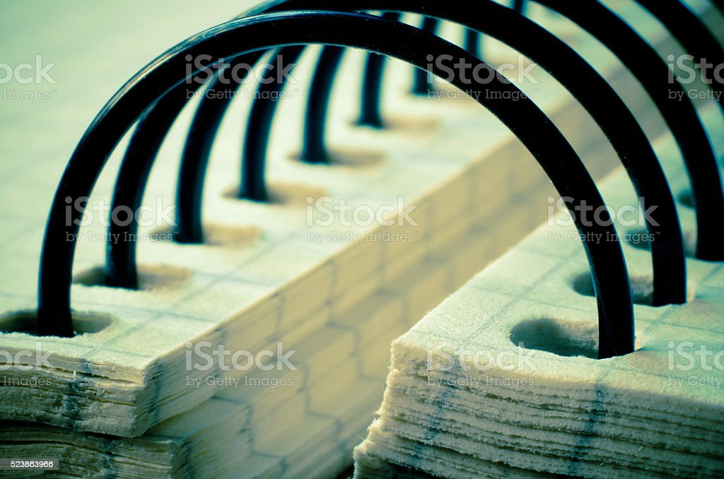 notebook spiral stock photo