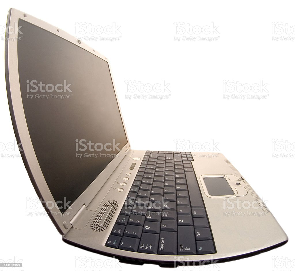 Notebook. The deformed left-side view royalty-free stock photo
