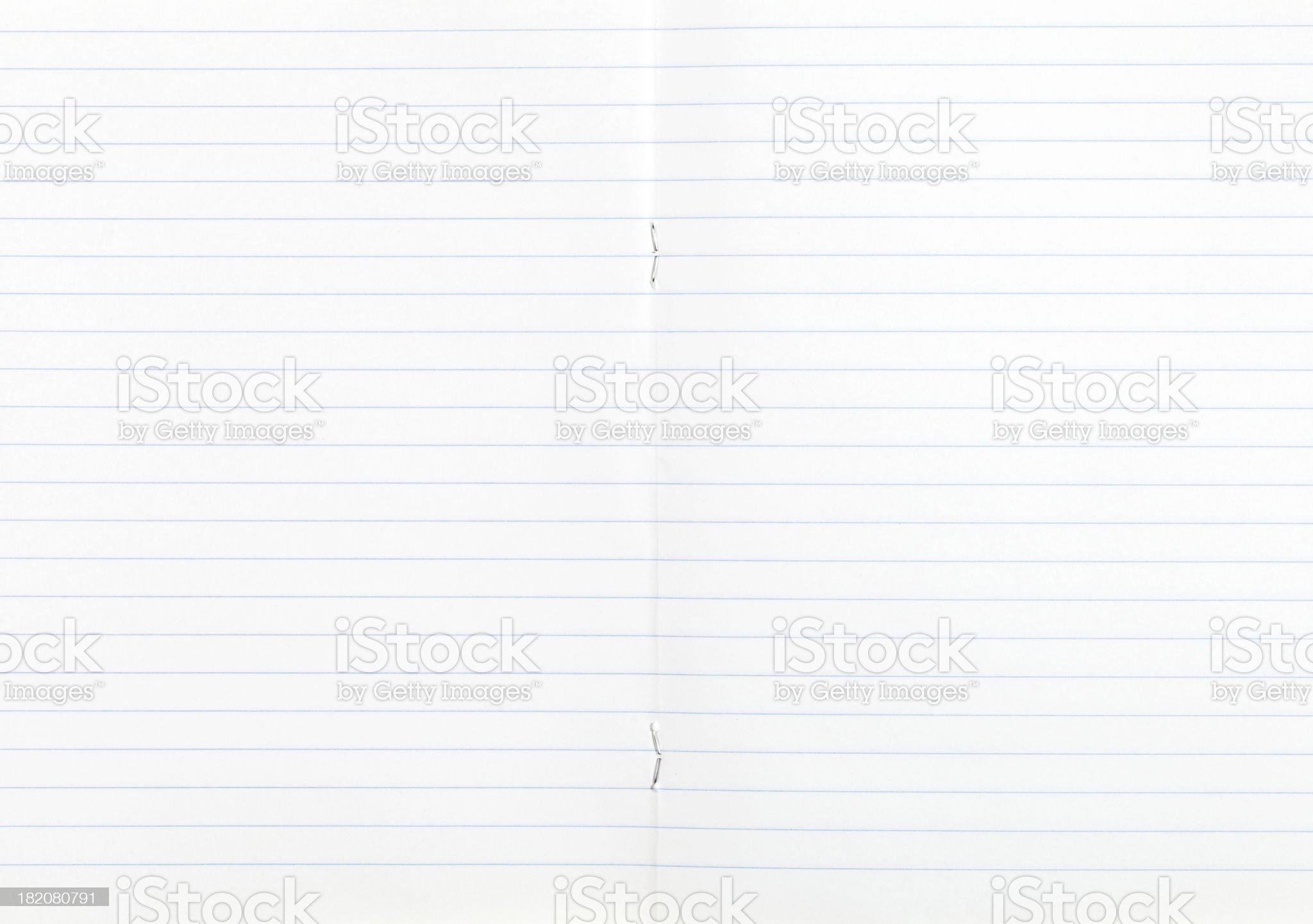 notebook wide lined double-page spread royalty-free stock photo