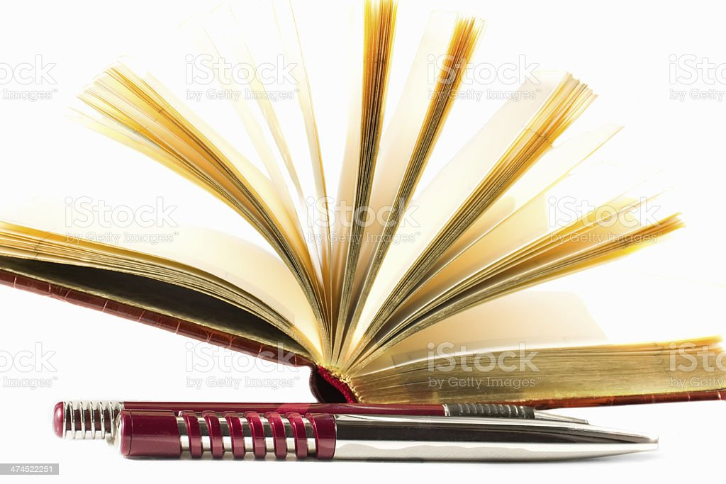 notebook with a pen royalty-free stock photo