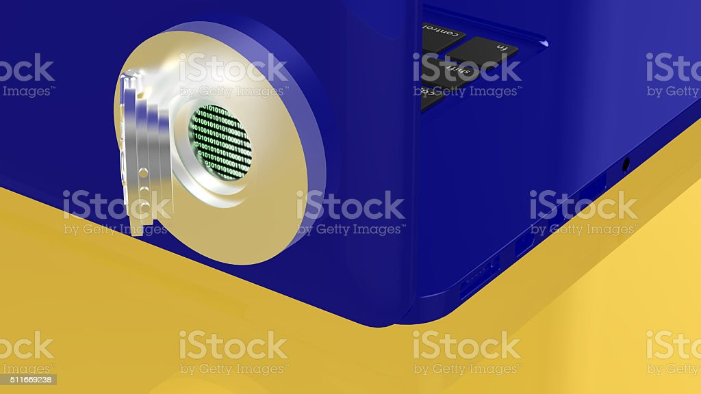 Notebook with backdoor stock photo