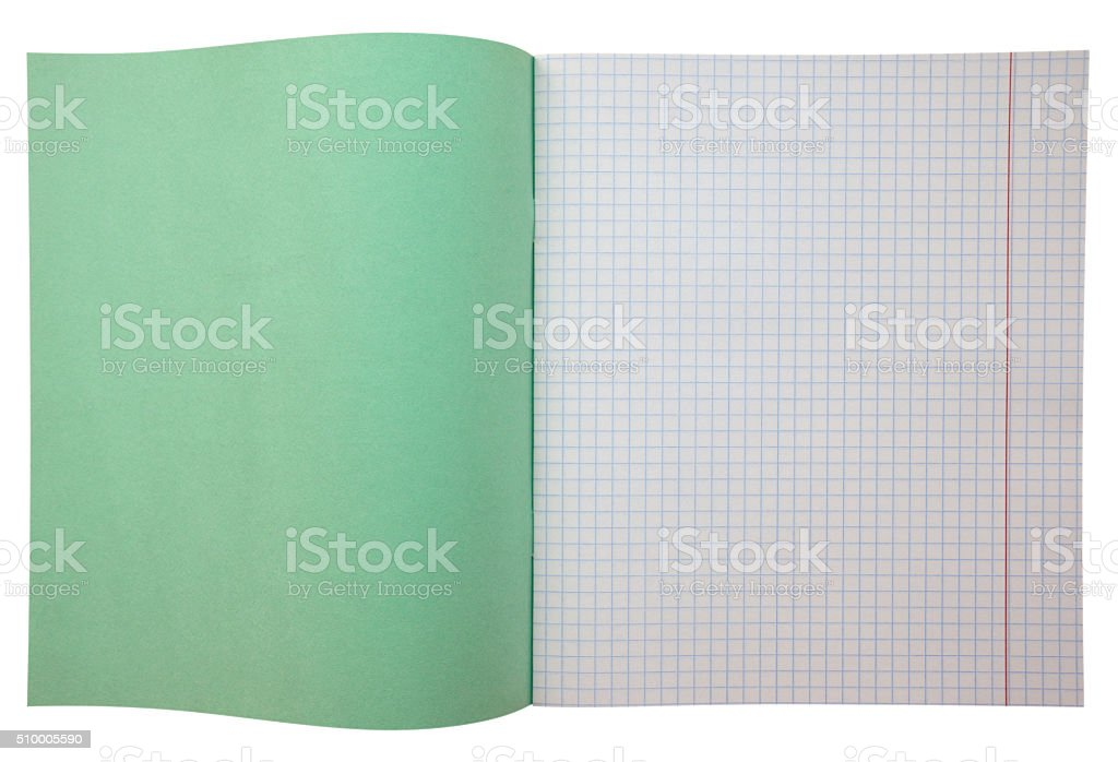 Notebook with grid stock photo