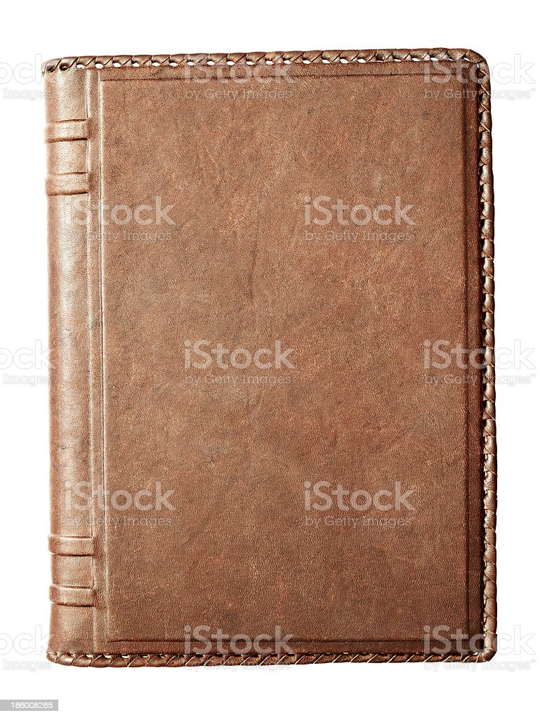 Notebook with leather cover stock photo