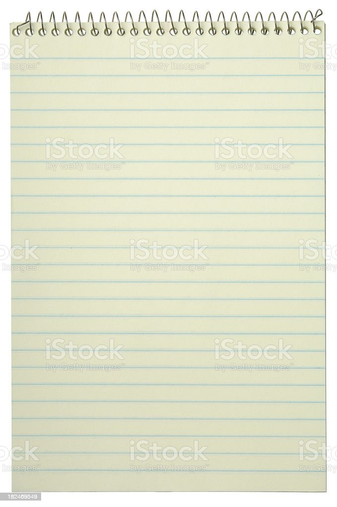 Notebook with path royalty-free stock photo