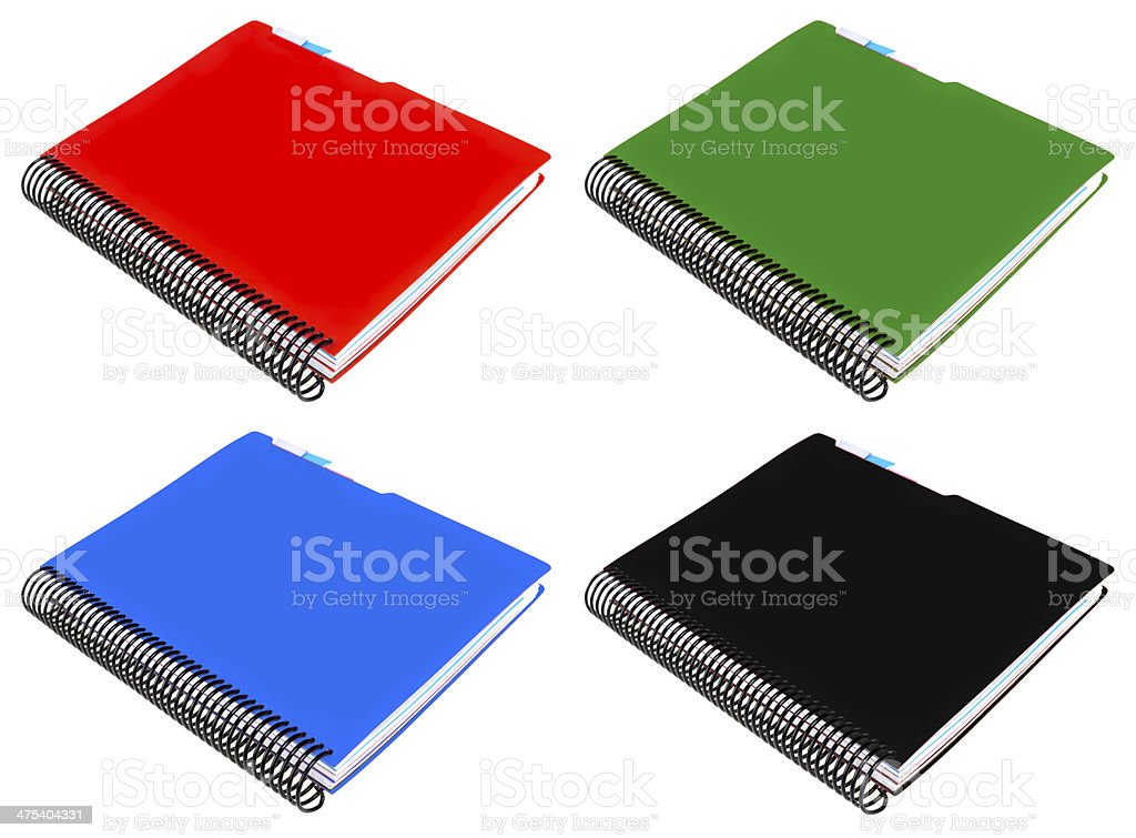 notebook with spiral stock photo