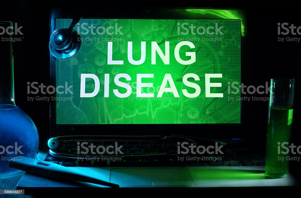 Notebook with words  Lung Disease stock photo